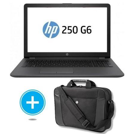 PORTÁTIL HP 250 G6 3VJ17EA - INTEL N4000 1.1GHZ - 8GB - 480GB SSD - 15.6'/39.6 CM HD - DVD RW - WIFI - FREEDOS + MALETÍN H2W17AA