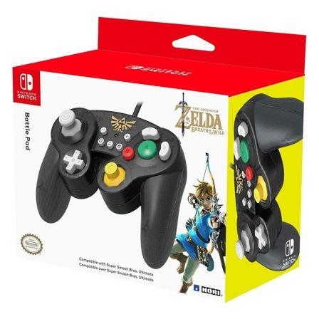 Gamepad con Cable Hori Battlepad Zelda para Nintendo Switch