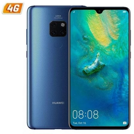 SMARTPHONE MÓVIL HUAWEI MATE 20 MIDNIGHT BLUE - 6.53'/16.5CM - CÁMARA (12+16+8)MP/24MP - KIRIN 980 - 128GB - 4GB RAM - DUAL SIM - 4G - BAT 4000MAH