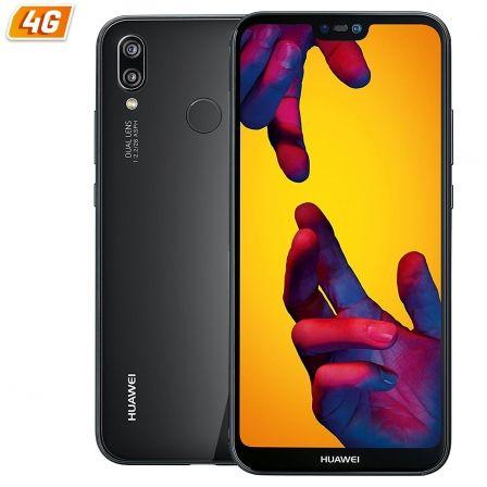 SMARTPHONE MÓVIL HUAWEI P20 LITE BLACK - 5.84'/14.8CM - CÁMARA (16+2)MP/16MP - OC KIRIN 659 - 64GB - 4GB RAM - ANDROID 8 - 4G - BT - DUALSIM - BAT3000