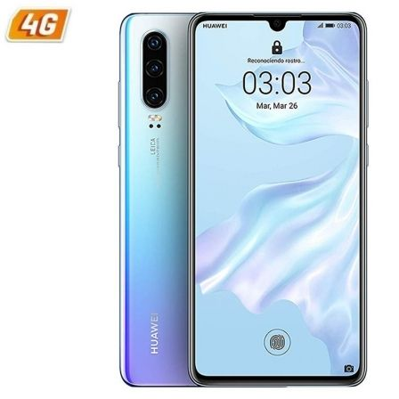 SMARTPHONE MÓVIL HUAWEI P30 CRYSTAL BLUE - 6.1'/15.4CM - CÁMARA (40+16+8MP)/32MP - KIRIN 980 - 128GB - 6GB RAM - DUAL SIM - ANDROID 9 - 4G - BAT3650M