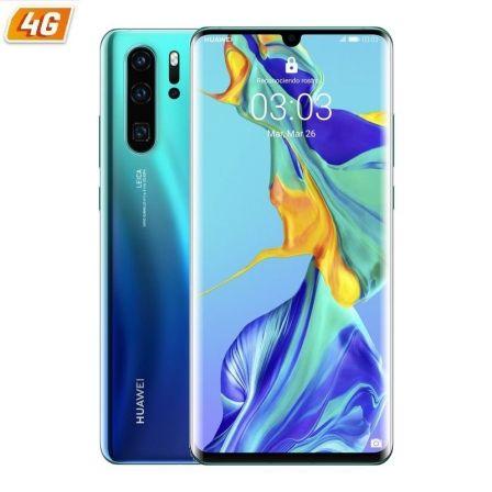 SMARTPHONE MÓVIL HUAWEI P30 PRO AURORA BLUE - 6.47'/16.43CM - CAM (40+20+8)/32MP - KIRIN 980 - 128GB - 8GB RAM - DUAL SIM - ANDROID 9 - 4G - BAT4200MA