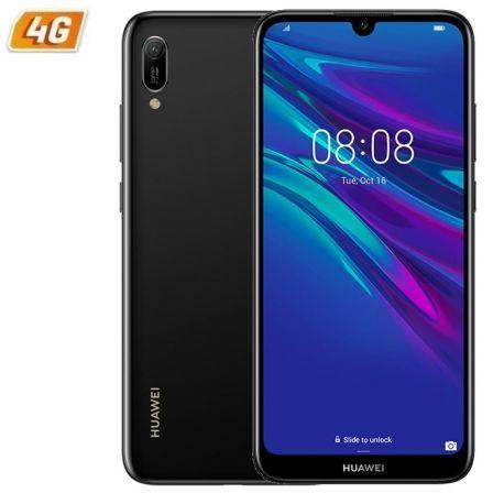 SMARTPHONE MÓVIL HUAWEI Y6 2019 BLACK - 6.09'/15.46CM - CÁMARA 13/8MP - QC 2.0GHZ - 32GB - 2GB RAM - ANDROID 9 - 4G - DUAL SIM - BAT 3020MAH