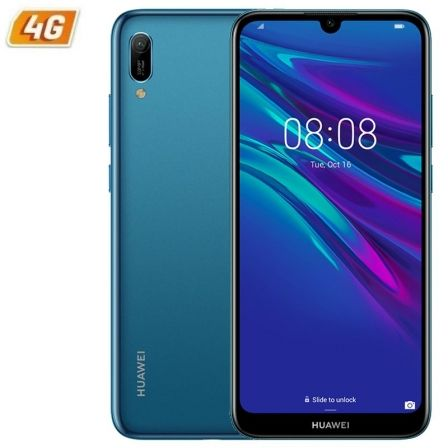 SMARTPHONE MÓVIL HUAWEI Y6 2019 BLUE - 6.09'/15.46CM - CÁMARA 13/8MP - QC 2.0GHZ - 32GB - 2GB RAM - ANDROID 9 - 4G - DUAL SIM - BAT 3020MAH