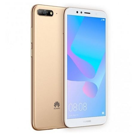 SMARTPHONE MÓVIL HUAWEI Y6 2018 DS GOLD - 5.7'/14.5CM 18:9 - 13/5MP - QC A53 1.4GHZ -16GB - 2GB RAM - ANDROID8.0 - 4G - DUAL SIM - BT - 3000MAH