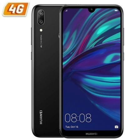 SMARTPHONE MÓVIL HUAWEI Y7 2019 BLACK - 6.26'/15.9CM - CÁMARA 8MP/(13+2MP) - OC 1.8GHZ - 32GB - 3GB RAM - DUAL SIM - ANDROID 8.1 - 4G - BAT3900M