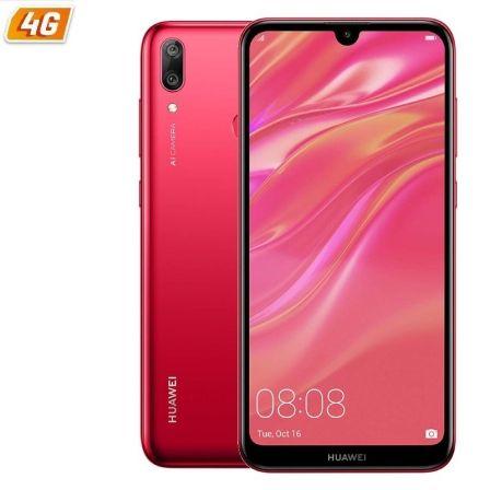 SMARTPHONE MÓVIL HUAWEI Y7 2019 RED - 6.26'/15.9CM - CÁMARA 8MP/(13+2MP) - OC 1.8GHZ - 32GB - 3GB RAM - DUAL SIM - ANDROID 8.1 - 4G - BAT3900M