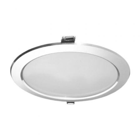 Downlight Iglux 102320-FP V2/ Circular/ Ø235 x 35mm/ Potencia 25W/ 2300 Lúmenes/ 6000ºK/ Plata