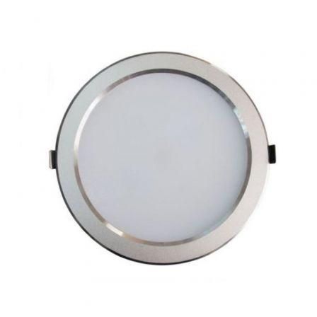 Downlight Iglux 102320-NP/ Circular/ Ø235 x 35mm/ Potencia 25W/ 2200 Lúmenes/ 4000ºK/ Plata