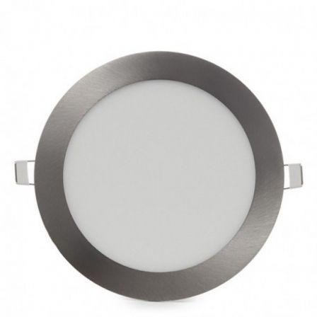 Downlight Iglux LS-102104-FP/ Circular/ Ø92 x 19mm/ Potencia 4W/ 285 Lúmenes/ 6000ºK/ Plata