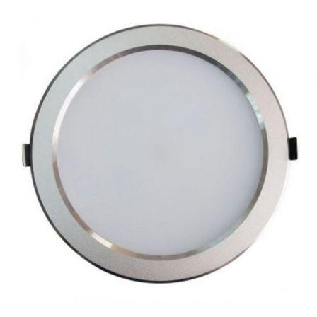 Downlight Iglux LS-102113-CP/ Circular/ Ø170 x 19mm/ Potencia 13W/ 1020 Lúmenes/ 3000ºK/ Plata