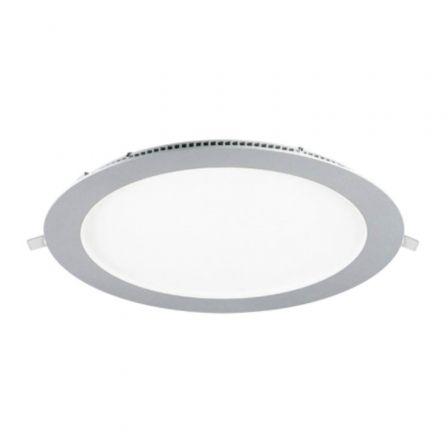 Downlight Iglux LS-102118-CP V2/ Circular/ Ø225 x 19mm/ Potencia 18W/ 1540 Lúmenes/ 3000ºK/ Plata