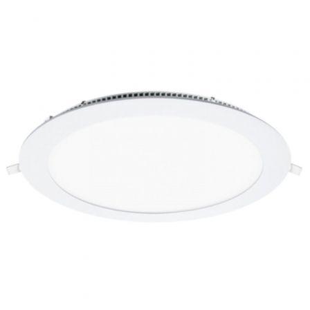 Downlight Iglux LS-102118-FB V2/ Circular/ Ø220 x 19mm/ Potencia 18W/ 1700 Lúmenes/ 6000ºK/ Blanco
