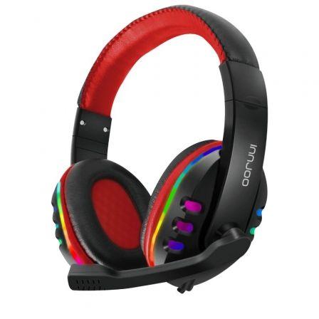 Auriculares Gaming con Micrófono Innjoo Headset/ Jack 3.5/ USB/ Rojos