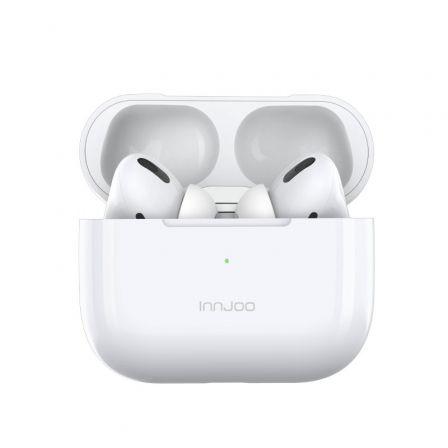 Auriculares Bluetooth Innjoo GO PRO con estuche de carga/ Autonomía 4h/ Blancos
