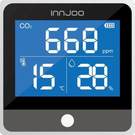Medidor de CO2 - Calidad del Aire Innjoo/ Múltiples Alertas