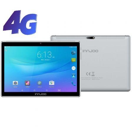 "TABLET CON 4G INNJOO SUPERB PLUS V4 SILVER - OC - 3GB RAM - 32GB - 10.1""/25.65CM IPS - ANDROID 9.1 - CÁMARA 5/2MPX - BAT 5000 MAH"