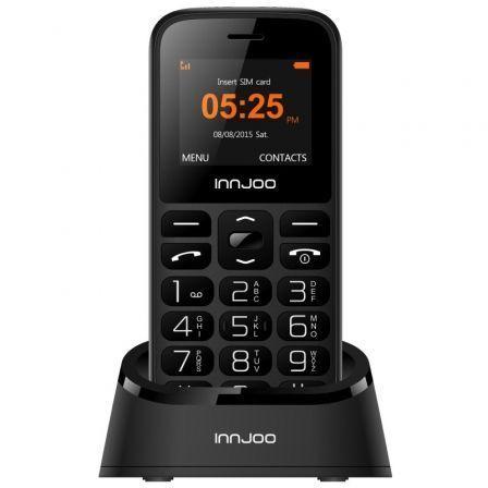 Teléfono Móvil Innjoo Senior Phone para Personas Mayores/ Negro