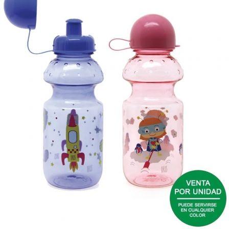 Botella Infantil Iris SnackRico Tritán 8003-P/ Capacidad 350ml/ Colores surtidos