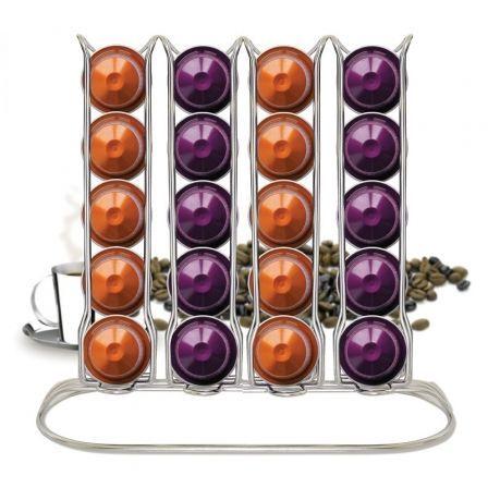 Porta Cápsulas Iris 3297-CR/ Capacidad 40 Cápsulas/ Acero Cromado