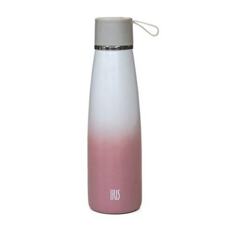 Termo Iris Botella Natural Rosa 8357-IR/ Capacidad 500ml/ para líquidos