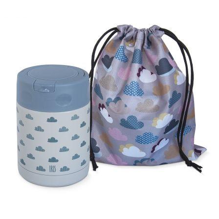 Termo Infantil Iris Kids Nubes Azul 8370-IA/ Capacidad 350ml/ para sólidos/ Bolsa