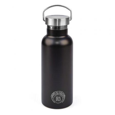 Termo Iris Botella Tierra Negro/ Capacidad 500ml/ para líquidos