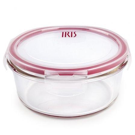 Recipiente redondo de Cristal Iris 8609-V/ Capacidad 840ml
