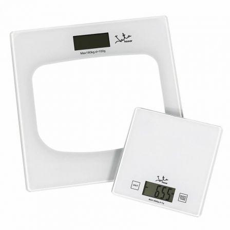 Báscula de Baño + Bascula Cocina Jata Hogar P111/ Hasta 180kg/ Blanca