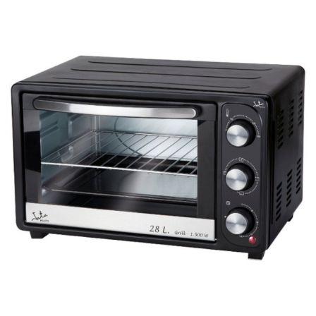 Horno de Sobremesa Jata HN928/ 1500W/ Capacidad 28L/ Función Grill/ Negro