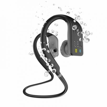 AURICULARES DEPORTIVOS JBL ENDURANCE DIVE BLACK - BT4.2 - GANCHO ADAPTABLE - IMPERMEABLES IPX7 - REPRODUCTOR MP3 INTEGRADO 1GB - BATERÍA