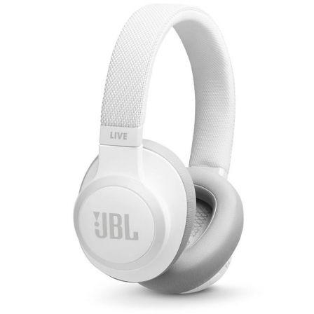 AURICULARES BLUETOOTH JBL LIVE 650BTNC WHITE - CANCELACIÓN ACTIVA DE RUIDO - BATERÍA RECARGABLE 700MAH - JACK 3.5 - FUNCIÓN MANOS LIBRES