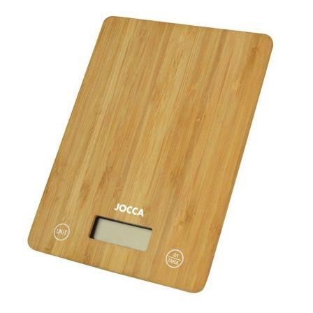 Báscula de Cocina Electrónica Jocca 7161/ hasta 5kg/ Marrón