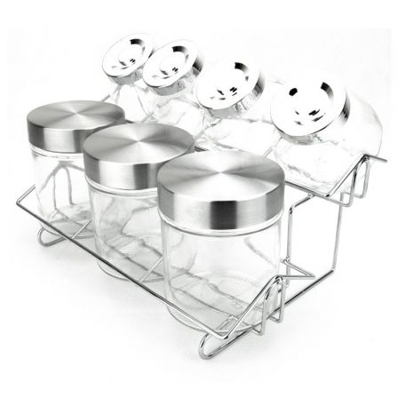 Set Especieros de Cristal Jocca 1540/ 7 unidades