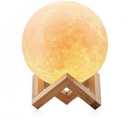 Lámpara Decorativa Jocca Luna 3D/ 3 Modos de Iluminación