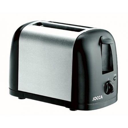 Tostador Jocca 5457/ 700W/ Negro y Plata