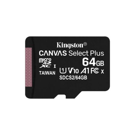 TARJETA MICROSD XC KINGSTON CANVAS SELECT PLUS - 64GB - CLASE 10 - 100MB/S