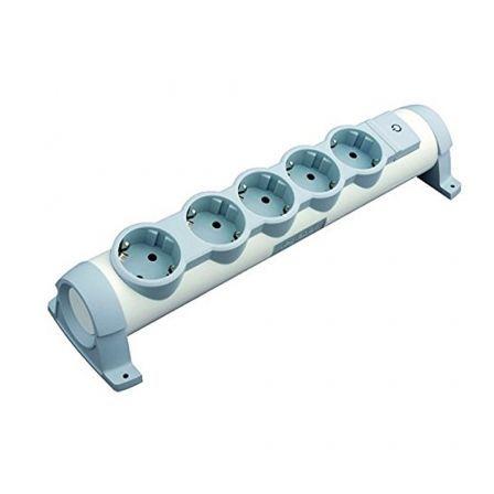 Regleta con interruptor Legrand 694632/ 5 Tomas de corriente/ Blanca