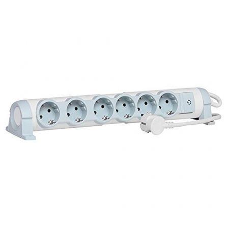 Regleta con interruptor Legrand 694636/ 6 Tomas de corriente/ Blanca