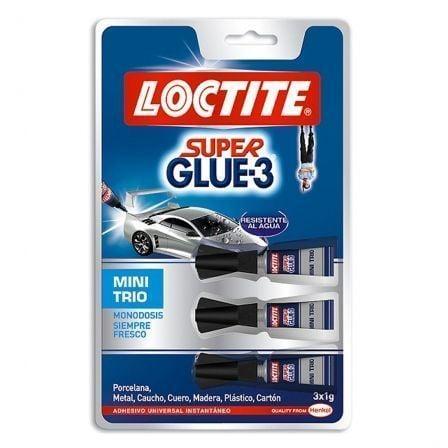 Pegamento en Tubo Loctite Super Glue-3 Mini Trio/ 3 x 1g