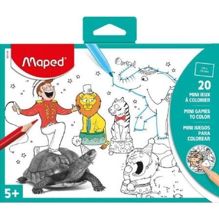 Mini Juegos Maped 831216 para Colorear/ 20 Láminas con Ilustraciones y Fotos