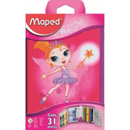 Plumier Maped Fairy 96782/ 31 unidades/ Contenido Surtido