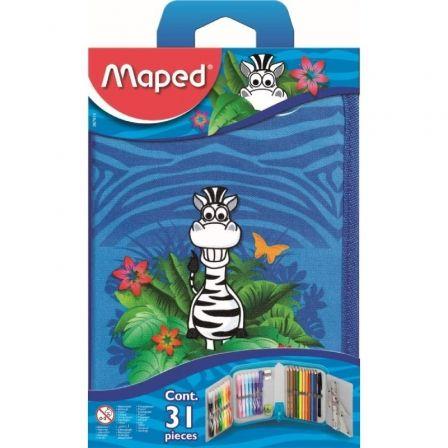 Plumier Maped Jungle 967814/ 31 unidades/ Contenido Surtido