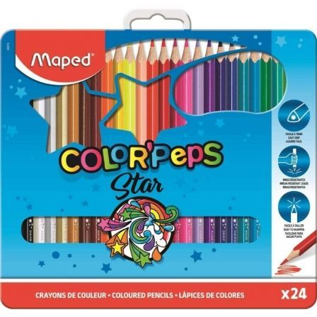Lápices Maped Color'Peps Star 832016/ 24 unidades/ Colores Surtidos