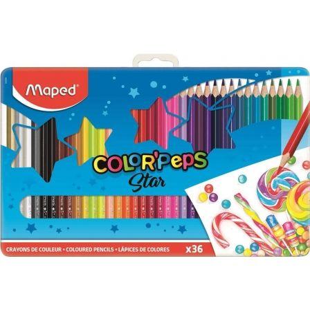 Lápices Maped Color'Peps 832056/ 3.7mm/ 36 unidades/ Colores Surtidos