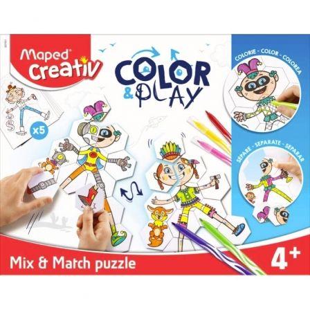 Rompecabezas Maped Color&Play Mix&Match 907001/ 55 Piezas + 5 Personajes