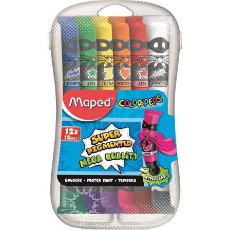 Estuche Temperas Maped Color'Peps 810520/ 12 unidades/ Capacidad 12ml
