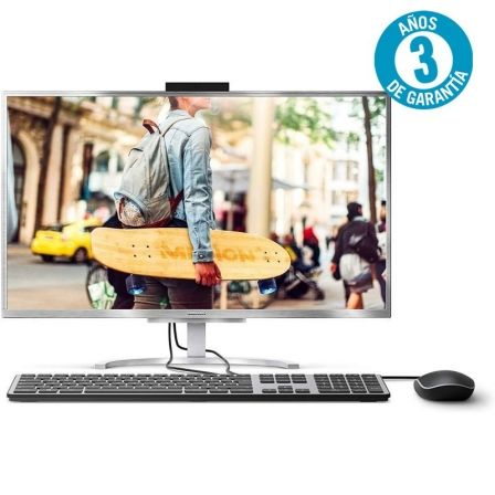 PC ALL IN ONE MEDION AKOYA E23401 MD61311 - I3-7020U 2.3GHZ - 8GB - 1TB+128GB SSD - 23.8'/60.4CM FHD - WIFI - BT - HDMI - W10 - SILVER