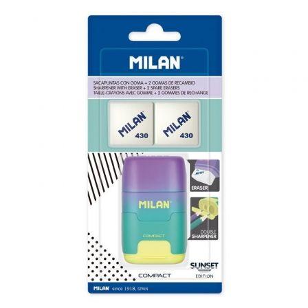 Afilaborra Milan Compact Sunset/ Doble/ Turquesa y Amarillo/ Incluye 2 Gomas