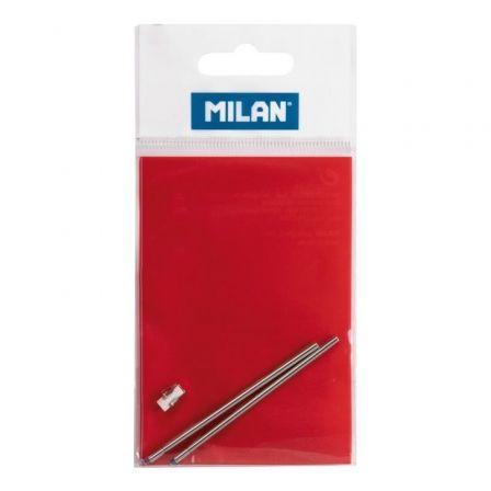 Recambios para Bolígrafo Milan MIL-BOLI 1772601/ 2 unidades/ Azul y Rojo